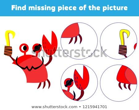Crianças quebra-cabeça peça jogo caranguejo Foto stock © adrian_n