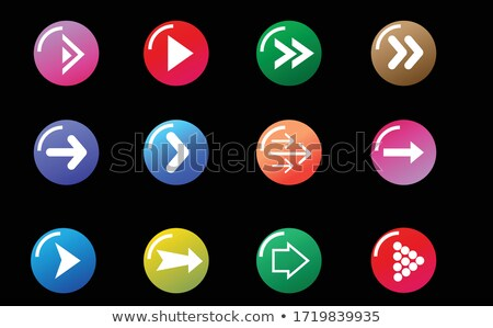 rouge · bouton · prochaine · flèche · symbole · cercle - photo stock © studioworkstock
