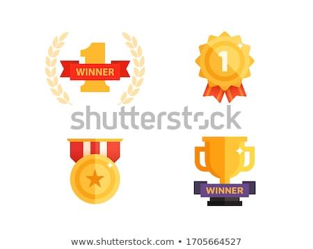 Primer lugar premio anunciante ganador ceremonia Foto stock © studioworkstock
