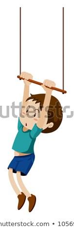 garçon · Swing · illustration · enfants · heureux - photo stock © bluering