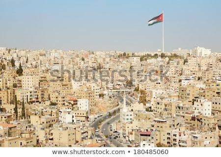 Jordánia város naplemente utca utazás építészet Stock fotó © FreeProd