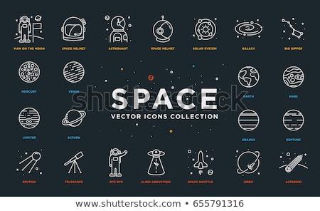 gezegen · uydu · ikon · bitcoin · akıllı - stok fotoğraf © popaukropa