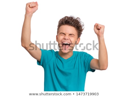 Teenage boy with fist clenched Stock photo © IS2
