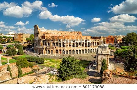 Sziluett gyönyörű Róma Olaszország városkép óváros Stock fotó © joyr