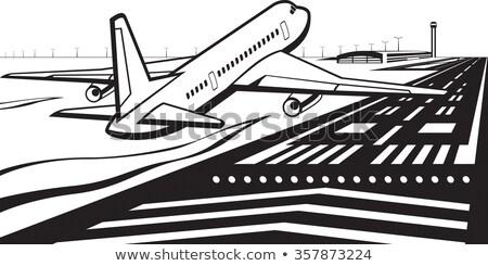 aeronaves · cielo · azul · cielo · viaje · avión · volar - foto stock © lunamarina