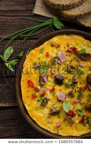 vers · augurken · champignons · chili · kruiden · top - stockfoto © Peteer