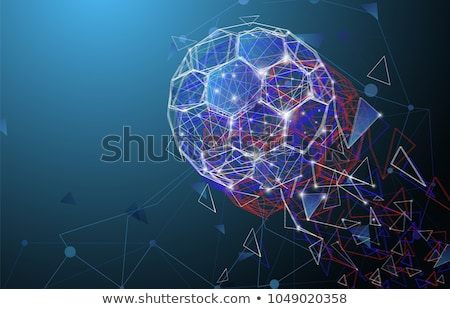 2018 football tournament background with abstract soccer ball Stock photo © SArts