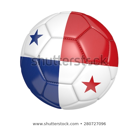 Ballon pavillon Panama football championnat 3D Photo stock © andreasberheide