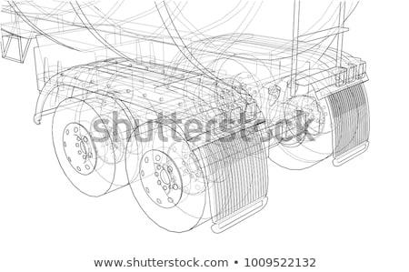 caminhão · pneu · estrada · ver · grande - foto stock © tasipas