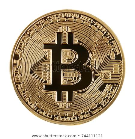 лице валюта bitcoin белый изолированный Сток-фото © Valeriy