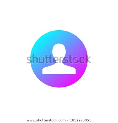 felhasználó · lineáris · ikon · emberi · személy · szimbólum - stock fotó © kyryloff