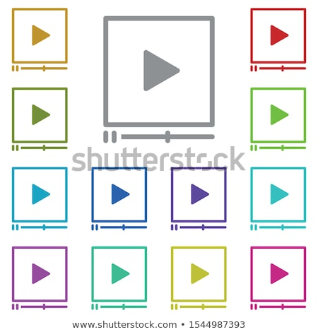 Video Tutorial Vector. Streaming App. Distance Education. Internet Services. Mobile. Online Player.  Stock photo © pikepicture