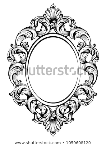 baroque frame decor detailed rich ornament vector illustration stock photo © frimufilms