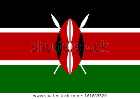 kenya flag vector illustration stock photo © butenkow