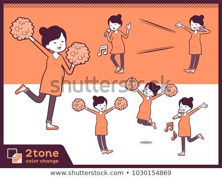 2tone type Pregnant women_set 07 Stock photo © toyotoyo