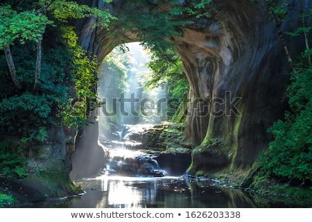 Vízesés barlang illusztráció természet művészet kő Stock fotó © bluering