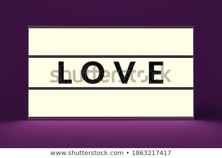 Vintage brilho amor dia dos namorados adesivo Foto stock © lissantee