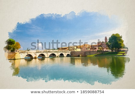 Floransa · İtalya · nehir · su · Bina · renkler - stok fotoğraf © givaga