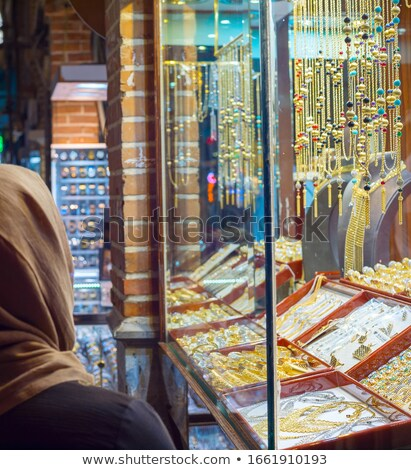 Jewelry stalls. Tehran Grand Market Stock photo © joyr