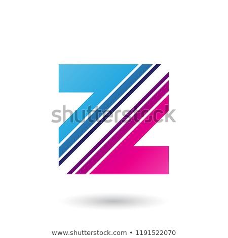 青 マゼンタ 文字z 対角線 ベクトル ストックフォト © cidepix