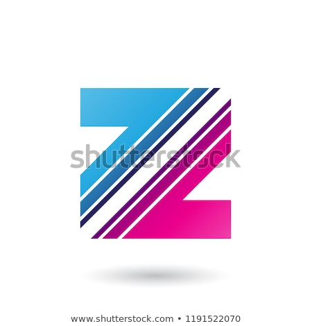 Kék magenta z betű átló csíkok vektor Stock fotó © cidepix