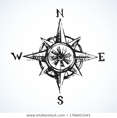 компас рисованной болван икона направлении Сток-фото © RAStudio