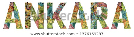 слово Турция вектора декоративный объект украшение Сток-фото © Natalia_1947