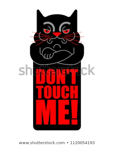 Dont touch me. Grumpy cat. Vector illustration Stock photo © MaryValery