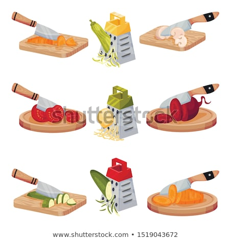 Kitchen Knife Chopping Board Illustration Stock photo © lenm