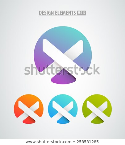 logo set set of simle logo in modern minimal style stock photo © foxysgraphic