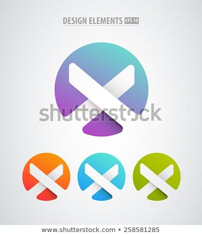 Logo zestaw nowoczesne minimalny stylu proste Zdjęcia stock © FoxysGraphic