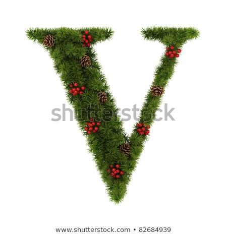 Christmas alphabet letter V Stock photo © grafvision