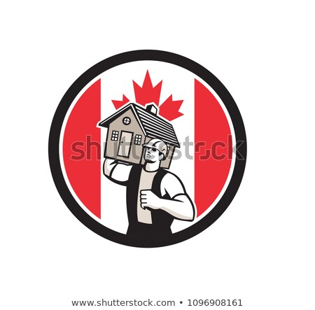 Canadian House Removal Canada Flag Icon Stock photo © patrimonio