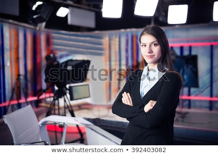 Political news presenter on TV Stock photo © rogistok