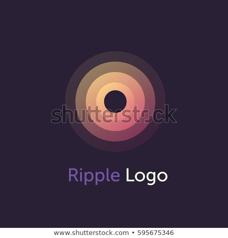 Mínimo círculo soar ondas preto isolado Foto stock © kyryloff