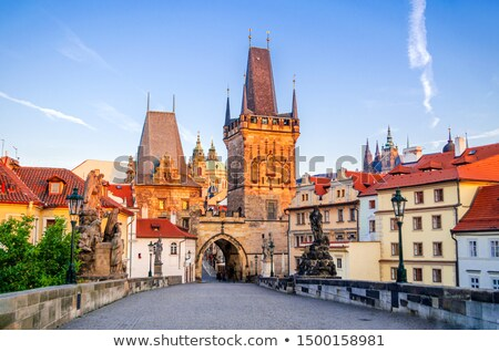 Charles bridge on Vltava Stock photo © Givaga