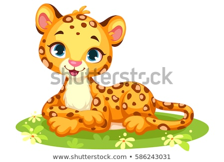 cartoon panther smiling stock photo © cthoman