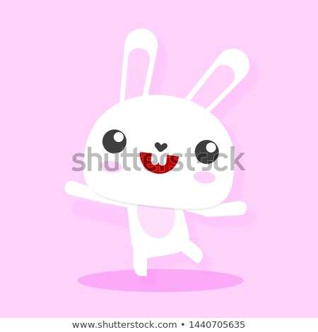 Hare and egg. Rabbit businessman. Easter Vector Illustration Stock photo © MaryValery