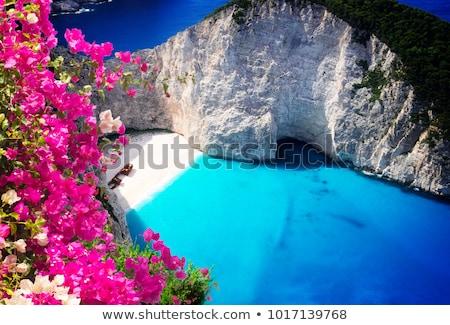 Bella isola sabbia bianca spiaggia view Foto d'archivio © neirfy