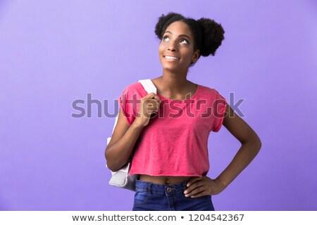 fotoğraf · kadın · öğrenci · sırt · çantası - stok fotoğraf © deandrobot