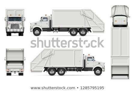 Realistyczny śmieci ciężarówka wektora pojazd Zdjęcia stock © YuriSchmidt