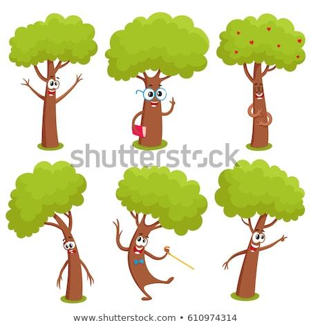 Triste cartoon albero illustrazione guardando natura Foto d'archivio © cthoman