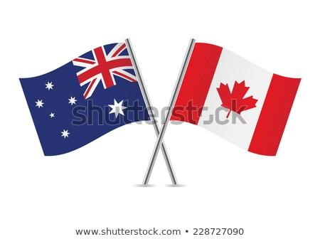 Due bandiere Canada Australia isolato Foto d'archivio © MikhailMishchenko