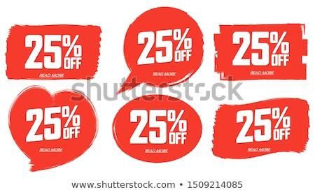 ötven · százalék · árengedmény · akció · holnap · vásár - stock fotó © robuart