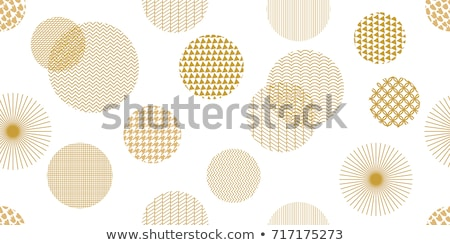 pattern with golden circles stock photo © artspace
