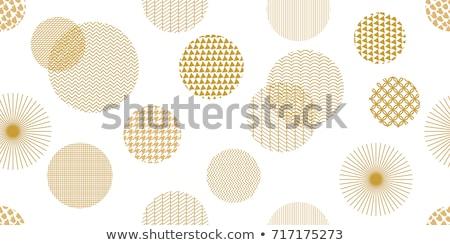 бесшовный · желтый · шаблон · Круги · складе - Сток-фото © artspace