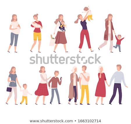 Famille parents maternité fille fils mains Photo stock © robuart