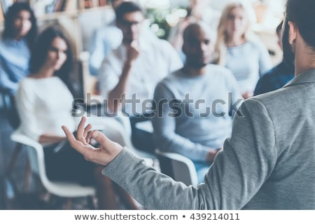 Business Meeting or Audience with People on Chairs Stock photo © robuart