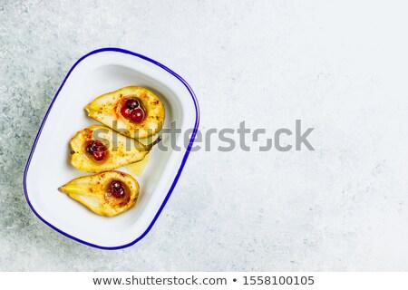 Tatlı armut akçaağaç şurup vanilya Stok fotoğraf © YuliyaGontar