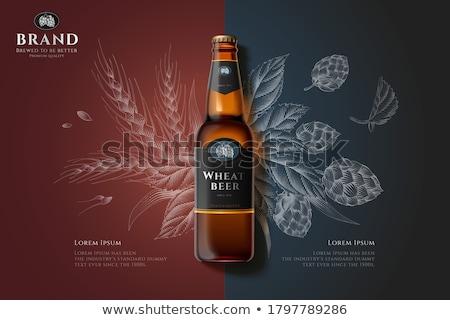 hops and malt illustration stock photo © conceptcafe